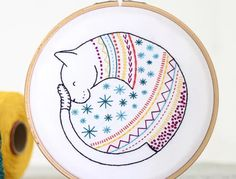 15 Cat Embroidery Patterns Advanced Embroidery, Learn Embroidery, Hand Embroidery Patterns, Applique Patterns, Embroidery Stitches, Cross Stitch Patterns, Filter, Cat Quilt, Felt Applique