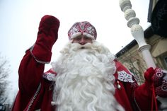 Ded Moroz  Ded moroz which translates to Father Frost, is the Russian equivalent to Santa Claus. He is pictured here at the Moscow Zoo. (Photo by Artyom Geodakyan\TASS via Getty Images)  via @AOL_Lifestyle Read more: https://www.aol.com/article/news/2016/12/12/18-astonishing-places-of-worship-from-around-the-world/21626108/?a_dgi=aolshare_pinterest#fullscreen