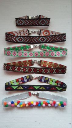 Woman Pattern Collar / Girlie Cute Collar / by MadeWithUnicorns