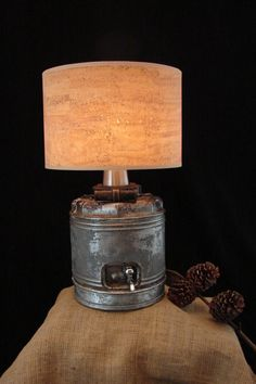 Upcycled Vintage Galvanized Water Jug Lamp with by BenclifDesigns, $95.00