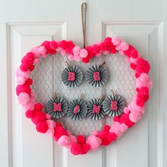 Quick Valentine's Day Wreath Idea - easy craft idea for your home!