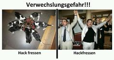 Hackfressen - Vorsicht! Verwechslungsgefahr! Religion And Politics, Man Humor, Funny Pictures, Funny Pics, Funny Stuff, Funny Jokes, Haha, Pin Up, Comedy