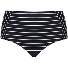 Cactus Black / White Plus Size Striped bikini bottoms, matching... (75 CAD) ❤ liked on Polyvore featuring swimwear, bikinis, bikini bottoms, black, plus size, shiny bikini, white bikini bottoms, tankini swimwear, plus size swimwear and high-waisted bikini