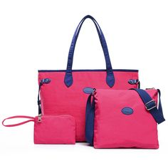 Women 3 Pcs Nylon Handbags Casual Big Capacity Shoulder Bag Clutch  Worldwide delivery. Original best quality product for 70% of it's real price. Hurry up, buying it is extra profitable, because we have good production sources. 1 day products dispatch from warehouse. Fast & reliable...