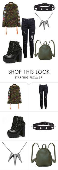 """""""Who says a tough girl is unattractive?"""" by gwcorringhamvictoria ❤ liked on Polyvore featuring Off-White and Humble Chic"""