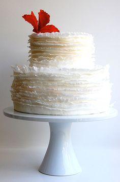 ruffled wedding cake!