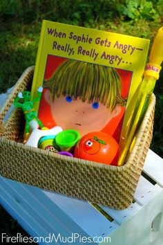 Anger Management Skills for Kids - A basket full of tools to help students who are feeling angry or upset