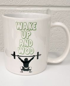Brand New 11 Oz Crossfit Wake Up and WOD by HotOffTheHeatPress, $7.49