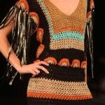 Lindo vestido de crochê da mineira Clair.
