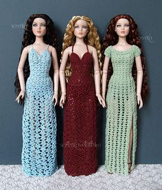 Crocheted dresses for Cami | Scratka-dolls | Flickr
