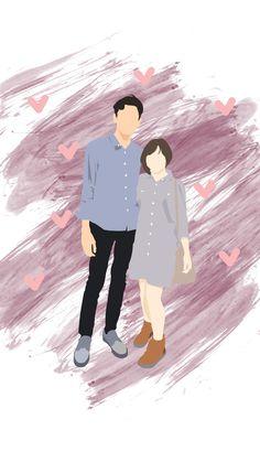 Wallpaper Wa, Cute Couple Wallpaper, Cute Disney Wallpaper, Cute Couple Drawings, Cute Couple Art, Couple Illustration, Graphic Illustration, Book Cover Background, Cover Wattpad