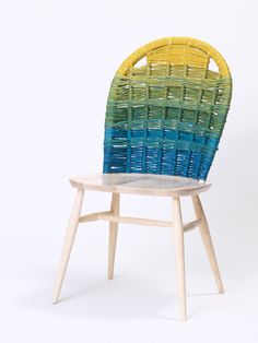 Woven backs spruce up an ordinary chair! Poppytalk: New Collaboration from Donna Wilson, SCP and Ercol Furniture Makeover, Diy Furniture, Wicker Furniture, Ercol Chair, Woven Chair, Chair Backs, Cool Chairs, Cheap Chairs, Take A Seat