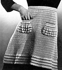 Ravelry: Crocheted Apron #4030 pattern by The Spool Cotton Company Apron Pattern Free, Vintage Apron Pattern, Vintage Crochet Patterns, Aprons Vintage, Apron Patterns, Clothing Patterns, Crochet Books, Crochet Crafts, Free Crochet