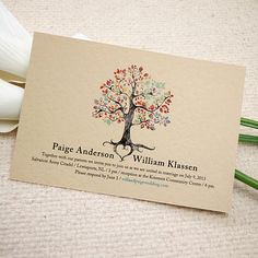 Printable Wedding Invitation - Rustic Woodland Tree