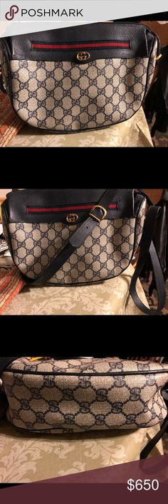 be4108d7948 Authentic Gucci Monogram Crossover Bag Authentic gorgeous Gucci vintage  monogram crossover bag. Outside is in