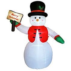 Price:	$59.98   DreamOne 8.5 ft Christmas Inflatable Snowman for Christmas Decoration #Free #Shipping #christmas #New Amazon Christmas, Merry Christmas, Xmas, Christmas Holidays, Snowman Decorations, Christmas Decorations, Christmas Ornaments, Holiday Decor, Christmas Inflatables