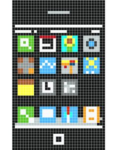 pixel art- picture is constructed of a modular grid of squares.