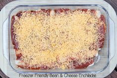 Freezer Friendly Bean & Cheese Enchiladas on 5DollarDinners.com