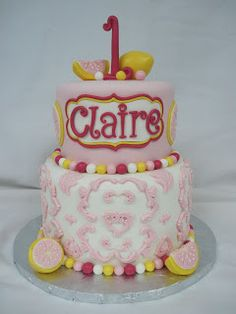 Heather's Cakes and Confections Pink Lemonade Cake, Little Girl Cakes, Love Cake, Cute Cakes, Sugar And Spice, How To Make Cake, Just Desserts, Amazing Cakes, Yummy Treats