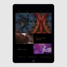 Picture of website ipad designed by Shore for the project Curator Pictures. Published on the Visual Journal in date 4 November 2015