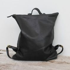 Genuine Leather backpack by BauXo. The peak backpack is the perfect companion. Equipped with two inside pockets (one zipped) and plenty of space to store your essentials. Top handle and adjustable straps make carrying easy. Black Leather Backpack, Beautiful Handbags, Minimalist Design, Handcrafted Jewelry, Drawstring Backpack, Backpacks, Purses, Essentials, Heaven