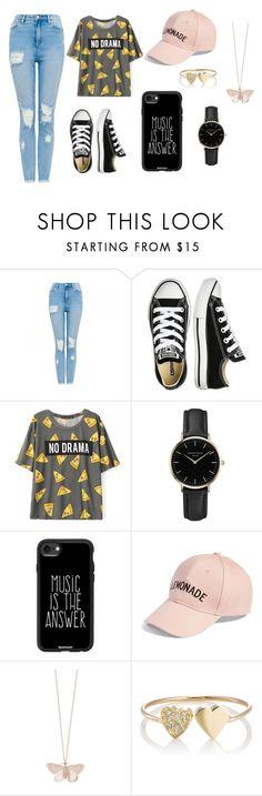 """No Drama"" by layaneleitth on Polyvore featuring moda, Converse, ROSEFIELD, Casetify, Amici Accessories, Alex Monroe e Jennifer Meyer Jewelry"
