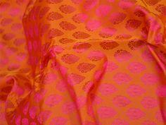Wedding Dress Fabric, Bridesmaid dress fabric, Brocade Fabric by the Yard, Indian Silk, Silk Brocade Fabric, Jacquard Fabric for bow tie
