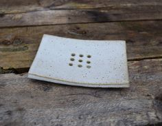 Ceramic Soap Dish *Made to order* White speckled stoneware glaze Drain Away, Ceramic Soap Dish, Pottery Classes, Biodegradable Products, Stoneware, Glaze, Shapes, Ceramics, Handmade Ceramic