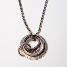 Riccardo Goti Handmade Silver & Leather Necklace -569 by: Riccardo Goti Found On; arisoho.com #mensnecklace #arisoho