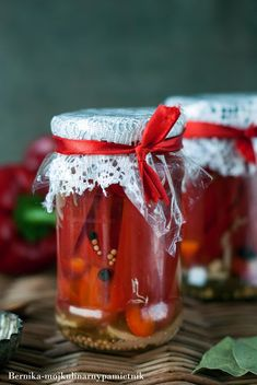Chutney, Preserves, Cake Recipes, Spicy, Food And Drink, Food Cakes, Decor, Canning, Red Peppers