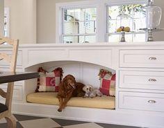 built in pet area ideas