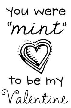 "Ginger Snap Crafts: ""Mint"" to Be My Valentine {printable} & Valentine Blog Hop"
