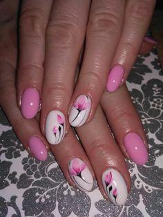 Spring Nail Art, Spring Nails, Summer Nails, Diy Nail Designs, Pedicure Designs, Flower Nail Art, Hot Nails, Rhinestone Nails, Artificial Nails