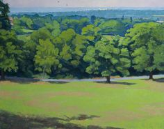 """""""Fox and Castle, Runnymede"""" by Alan Bennett. Runnymede Campus.  Collection:  Brunel University Artworks Collection"""