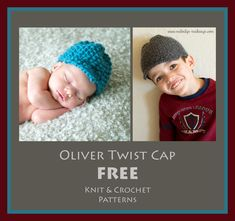 Oliver Twist Cap, free pattern (crochet and knit versions available) by Melody's Makings in 6 sizes from newborn through years old Oliver Twist, Knit Or Crochet, Cute Crochet, Knitting Patterns, Crochet Patterns, News Boy Hat, Crochet Flowers, Free Knitting, Crocs
