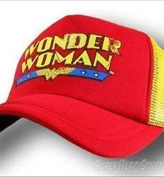 d49e01ebda7 Very hard to find a Wonder Woman hat!! Grrr Wonder Woman Red Mesh Baseball