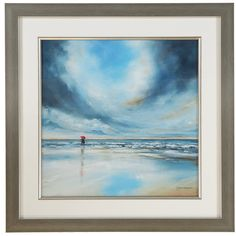 Beach Scene Wall Art In Frame - TK Maxx