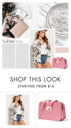 """""""Casual Roses Leaves Print Jacket"""" by pinki1994 ❤ liked on Polyvore featuring Oris and twinkledeals"""