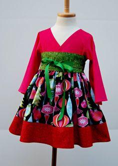 high waist christmas dress