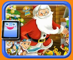 Santa Claus and Elves - 25 Piece Online jigsaw puzzle for kids