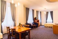 Hotel Melantrich - apartmán Lodges, Prague, Curtains, Home Decor, Cabins, Blinds, Decoration Home, Room Decor, Draping