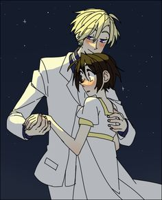 Ouran High School Host Club - Tamaki Suoh x Haruhi Fujioka - TamaHaru Colégio Ouran Host Club, Host Club Anime, School Clubs, High School Host Club, Ouran Highschool, Dibujos Cute, Cute Anime Couples, Anime Ships, Me Me Me Anime
