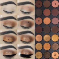 Makeup Idea Braun - - Kosmetik - Make-up Makeup Goals, Makeup Inspo, Makeup Inspiration, Makeup Tips, Beauty Makeup, Makeup Ideas, Beauty Tips, Eyeshadow Looks, Eyeshadow Makeup