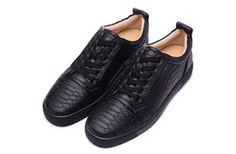 2016 Men's and Women's BLACK SNAKE Genuine Leather High Top Sneakers Designer Brand Causal shoes Sports Shoes size 36-46