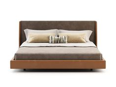 Double bed with upholstered headboard MIRANDA