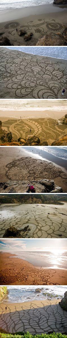 Andres Amador é um artista famoso por criar obras incríveis e frágeis na areia de praias ao redor do mundo. A sua fama não é a toa como você pode ver nas fotos abaixo. ...