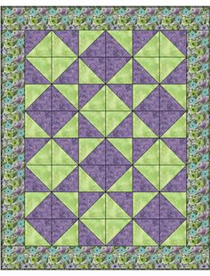 Tumbling Triangles 3 Yard Quilt	091420