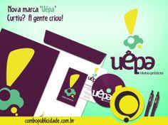 CRIAÇÃO DE IDENTIDADE VISUAL, é com a Combo! Nova marca 'UÊPA, ideias práticas'.  Veja mais em: http://www.combopublicidade.com.br/?p=2865