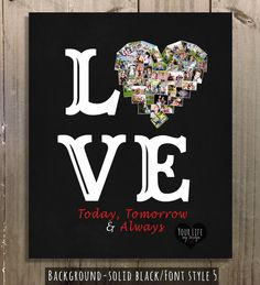 LOVE Print-Birthday Gift Romantic Gift by YourLifeMyDesign on Etsy