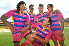 All Blacks in pink